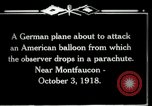 Image of observation balloon Montfaucon France, 1918, second 5 stock footage video 65675029598