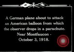 Image of observation balloon Montfaucon France, 1918, second 6 stock footage video 65675029598