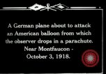 Image of observation balloon Montfaucon France, 1918, second 8 stock footage video 65675029598