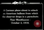 Image of observation balloon Montfaucon France, 1918, second 11 stock footage video 65675029598