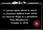 Image of observation balloon Montfaucon France, 1918, second 12 stock footage video 65675029598