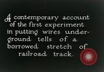 Image of underground telephone cables United States USA, 1928, second 2 stock footage video 65675029612