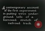 Image of underground telephone cables United States USA, 1928, second 9 stock footage video 65675029612
