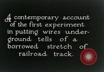 Image of underground telephone cables United States USA, 1928, second 11 stock footage video 65675029612