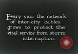 Image of laying telephone lines United States USA, 1928, second 8 stock footage video 65675029613