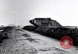 Image of British Mark IV tanks in operation in World War 1 Langres France, 1918, second 9 stock footage video 65675029628
