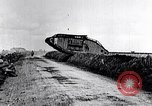 Image of British Mark IV tanks in operation in World War 1 Langres France, 1918, second 11 stock footage video 65675029628