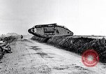 Image of British Mark IV tanks in operation in World War 1 Langres France, 1918, second 12 stock footage video 65675029628