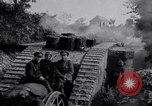 Image of British Mark IV (female) tank with hitchhikers France, 1916, second 4 stock footage video 65675029642