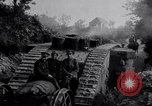 Image of British Mark IV (female) tank with hitchhikers France, 1916, second 6 stock footage video 65675029642