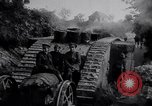 Image of British Mark IV (female) tank with hitchhikers France, 1916, second 7 stock footage video 65675029642