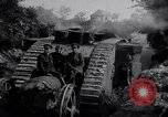 Image of British Mark IV (female) tank with hitchhikers France, 1916, second 8 stock footage video 65675029642