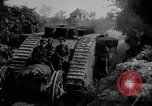 Image of British Mark IV (female) tank with hitchhikers France, 1916, second 11 stock footage video 65675029642