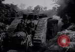 Image of British Mark IV (female) tank with hitchhikers France, 1916, second 12 stock footage video 65675029642
