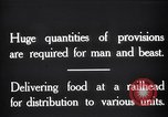 Image of food supplies France, 1917, second 2 stock footage video 65675029649