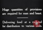 Image of food supplies France, 1917, second 3 stock footage video 65675029649