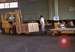 Image of pallets of supplies California United States USA, 1967, second 9 stock footage video 65675029668