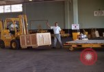 Image of pallets of supplies California United States USA, 1967, second 10 stock footage video 65675029668