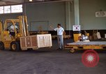 Image of pallets of supplies California United States USA, 1967, second 11 stock footage video 65675029668