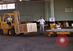 Image of pallets of supplies California United States USA, 1967, second 12 stock footage video 65675029668