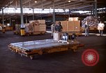 Image of pallets of supplies California United States USA, 1967, second 9 stock footage video 65675029669