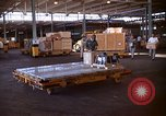 Image of pallets of supplies California United States USA, 1967, second 10 stock footage video 65675029669