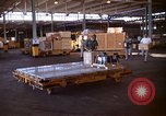 Image of pallets of supplies California United States USA, 1967, second 11 stock footage video 65675029669