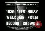 Image of New Year celebrations New York United States USA, 1939, second 2 stock footage video 65675029684
