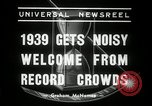 Image of New Year celebrations New York United States USA, 1939, second 3 stock footage video 65675029684