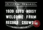 Image of New Year celebrations New York United States USA, 1939, second 7 stock footage video 65675029684