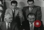 Image of Joseph McCarthy investigates communism New York City USA, 1953, second 9 stock footage video 65675029713