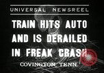 Image of Illinois Central train Covington Tennessee USA, 1936, second 1 stock footage video 65675029721