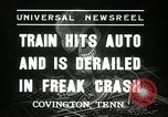 Image of Illinois Central train Covington Tennessee USA, 1936, second 2 stock footage video 65675029721