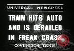 Image of Illinois Central train Covington Tennessee USA, 1936, second 4 stock footage video 65675029721