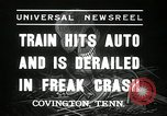 Image of Illinois Central train Covington Tennessee USA, 1936, second 5 stock footage video 65675029721