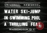 Image of water ski jump Washington DC USA, 1936, second 2 stock footage video 65675029723