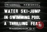 Image of water ski jump Washington DC USA, 1936, second 5 stock footage video 65675029723