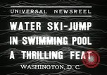 Image of water ski jump Washington DC USA, 1936, second 8 stock footage video 65675029723