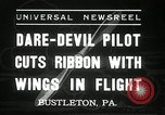 Image of stunt pilot Bustleton Pennsylvania USA, 1936, second 2 stock footage video 65675029724
