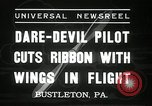 Image of stunt pilot Bustleton Pennsylvania USA, 1936, second 4 stock footage video 65675029724