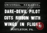 Image of stunt pilot Bustleton Pennsylvania USA, 1936, second 7 stock footage video 65675029724