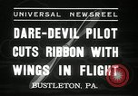 Image of stunt pilot Bustleton Pennsylvania USA, 1936, second 9 stock footage video 65675029724