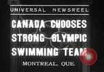 Image of Canada's Olympic swimming team Montreal Quebec Canada, 1936, second 1 stock footage video 65675029725