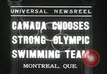 Image of Canada's Olympic swimming team Montreal Quebec Canada, 1936, second 2 stock footage video 65675029725