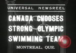 Image of Canada's Olympic swimming team Montreal Quebec Canada, 1936, second 4 stock footage video 65675029725