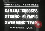 Image of Canada's Olympic swimming team Montreal Quebec Canada, 1936, second 5 stock footage video 65675029725
