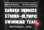Image of Canada's Olympic swimming team Montreal Quebec Canada, 1936, second 6 stock footage video 65675029725