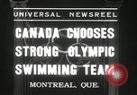 Image of Canada's Olympic swimming team Montreal Quebec Canada, 1936, second 7 stock footage video 65675029725