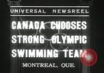 Image of Canada's Olympic swimming team Montreal Quebec Canada, 1936, second 8 stock footage video 65675029725