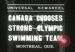 Image of Canada's Olympic swimming team Montreal Quebec Canada, 1936, second 9 stock footage video 65675029725